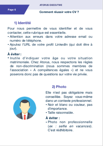 Les astuces pour réussir votre CV