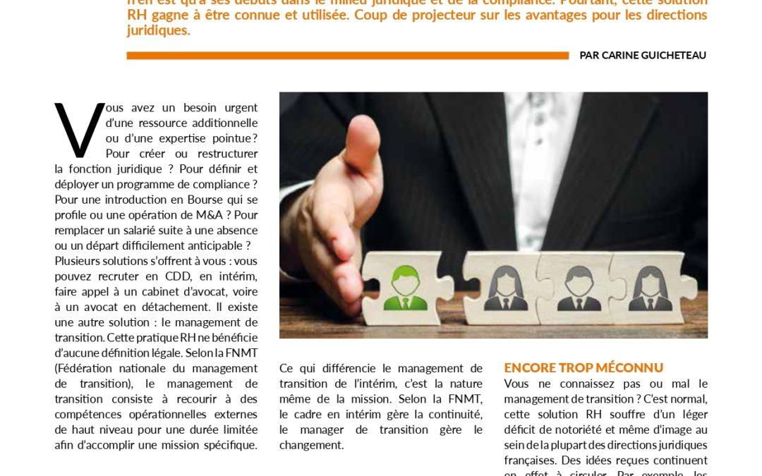 """Le management de transition  une """"nouvelle"""" solution RH"""